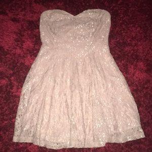 Charlotte Russe Beautiful Lace Glitter Dress